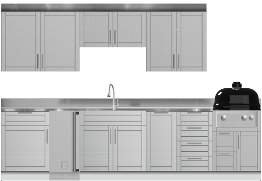 Stainless Steel Cabinets - Outdoor Cabinetry
